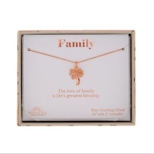 LA Rocks Jewelry - Rose Gold Plated Family Tree Necklace
